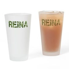 Reina, Vintage Camo, Drinking Glass