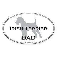 Irish Terrier DAD Oval Decal