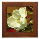 Magnolia Flower Framed Tile