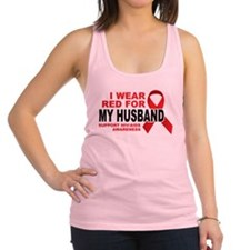 Red-For-Husband-wht.png Racerback Tank Top