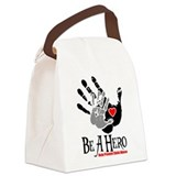 Be A HeroPNGblk.png Canvas Lunch Bag