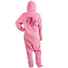 Crohns-Peace-Love-Cure.png Footed Pajamas