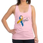 Down Syndrome Ribbon Hope Racerback Tank Top