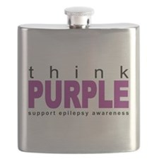 Think Purple: Epilepsy Flask