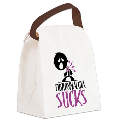 Fibromyalgia-Sucks2.png Canvas Lunch Bag