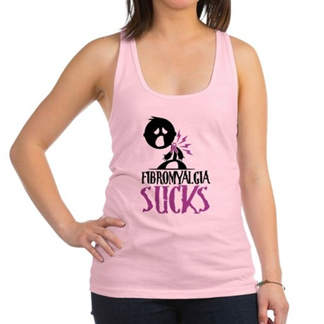 Fibromyalgia-Sucks2.png Racerback Tank Top