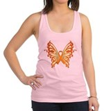Orange-Butterfly-2009.png Racerback Tank Top