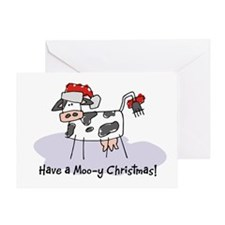 Cool Cow christmas Greeting Card