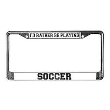 Soccer License Plate Frame