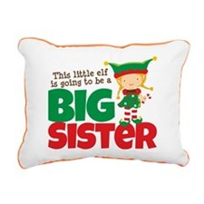 Elf going to be a Big Sister Rectangular Canvas Pi