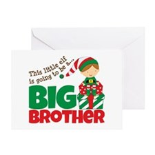 Elf Big Brother To Be Greeting Card
