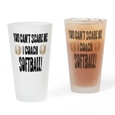 Funny Softball team Drinking Glass