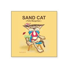 "Sand cat - Square Sticker 3"" x 3"""