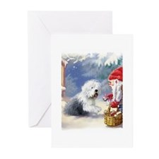 Sheepdog get a gift Greeting Cards