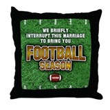 &quot;Football Season&quot; Throw Pillow