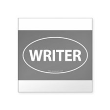WRITER Euro Style Auto Oval Sticker -Black Sticker