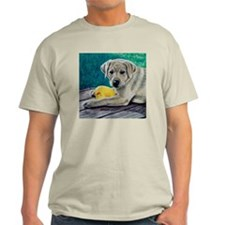 My Ducky Yellow Lab Pup Ash Grey T-Shirt