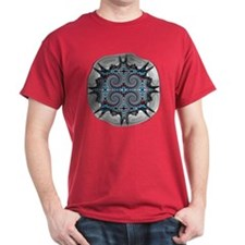 Shadowbox Fractal Dark Red T-Shirt