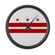 Flag of D.C. Large Wall Clock