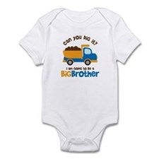 Dump truck Big Brother To Be Infant Bodysuit