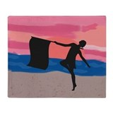 Colorguard Dancer at Sunset Throw Blanket
