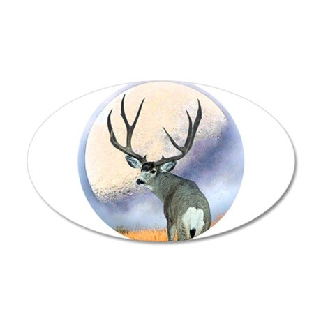 Monster buck 35x21 Oval Wall Decal