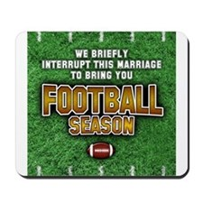 """Football Season"" Mousepad"