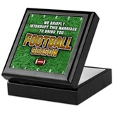 """Football Season"" Keepsake Box"