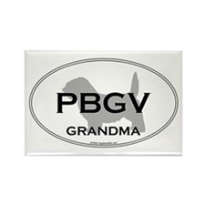 PBGV GRANDMA Rectangle Magnet