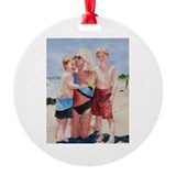 wendi and the boys Round Ornament