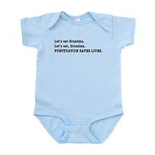 Punctuation Saves Lives Infant Bodysuit