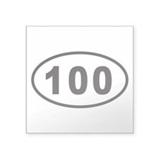 100 Euro Oval Sticker