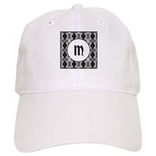 Diamond Black Monogram Baseball Cap