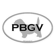 PBGV Oval Decal