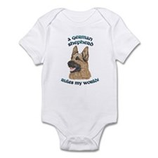 A German Shepherd Rules Infant Bodysuit