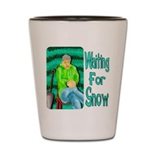 Waiting for Snow Shot Glass