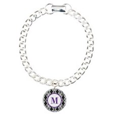 Diamond Purple Monogram Bracelet