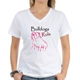 Bulldogs Rule Pink/Ash Grey T-Shirt T-Shirt