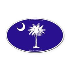 South Carolina Flag Oval Car Magnet