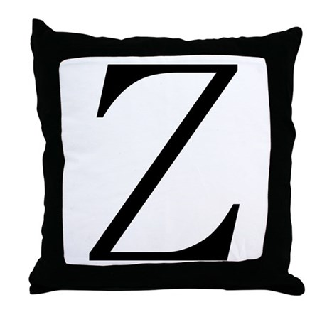 Greek Character Zeta Throw Pillow