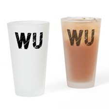 Wu, Vintage Camo, Drinking Glass