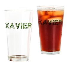 Xavier, Vintage Camo, Drinking Glass