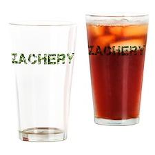 Zachery, Vintage Camo, Drinking Glass