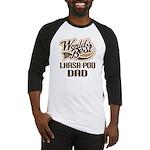 Lhasa-Poo Dog Dad Baseball Jersey