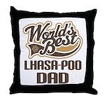 Lhasa-Poo Dog Dad Throw Pillow