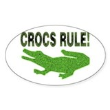Crocs Rule Oval Decal