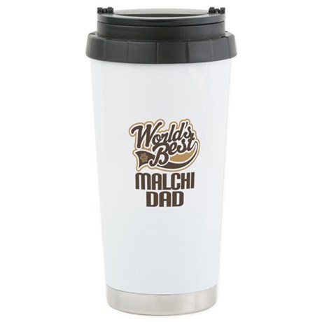 Malchi Dog Dad Ceramic Travel Mug