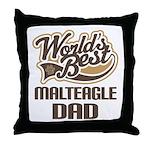Malteagle Dog Dad Throw Pillow