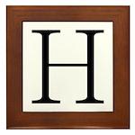 Greek Letter Eta Framed Tile