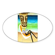 Tiki Man with Pina Colada Decal